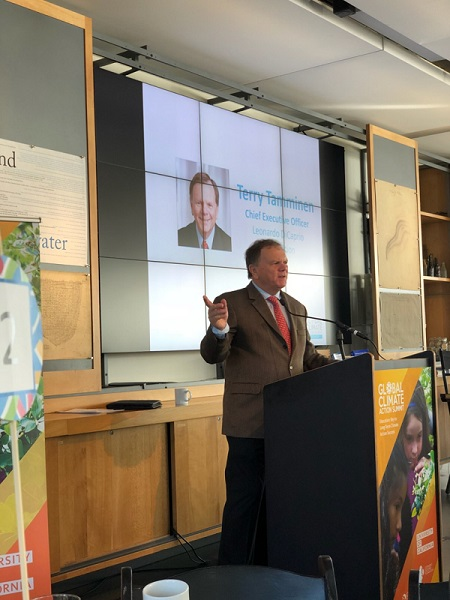 Terry Tammien, CEO of the Leonardo DiCaprio Foundation, presents at GCAS Affiliate Event: Education: Key to Long-term Climate Action Success