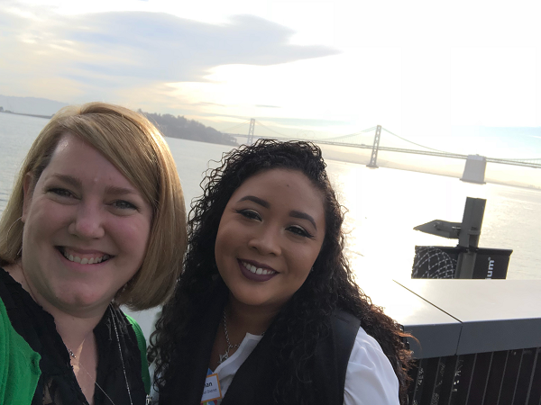 CSTA President Jill Grace with CSTA Member Juanita Chan in San Francisco for the Governor's Global Action Climate Summit