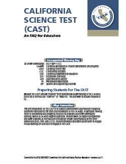 CAST FAQ